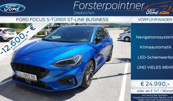 Ford Focus 1,5 EcoBlue ST-Line Business Automatik 120PS -VORFÜHRWAGEN