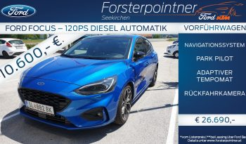 Ford Focus 1,5 EcoBlue ST-Line Business Automatik 120PS -VORFÜHRWAGEN